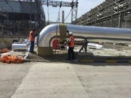 ZETES III 1400 MW TERMİK SANTALİ DENİZ SUYU HATLARININ YANGIN HATTI İZOLASYON İŞİ